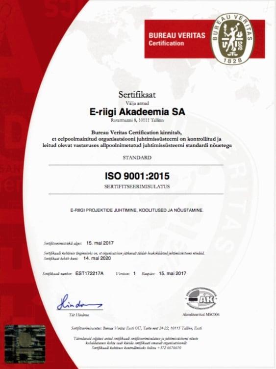 ISO-sertifikaat_est