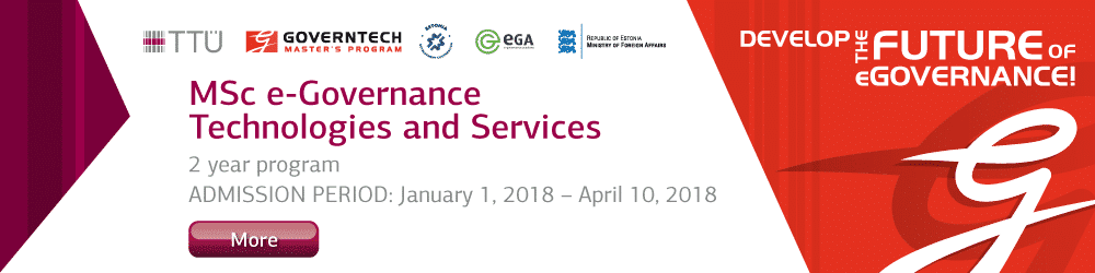Apply for MSc eGovernance Technologies and Services